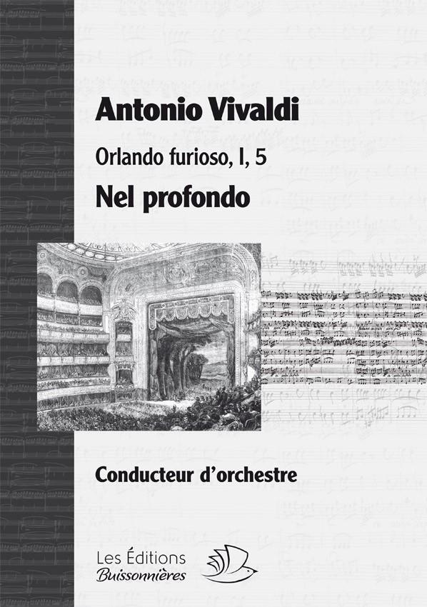Vivaldi, Nel profondo (Orlando furioso, I, 5), matériel d'orchestre