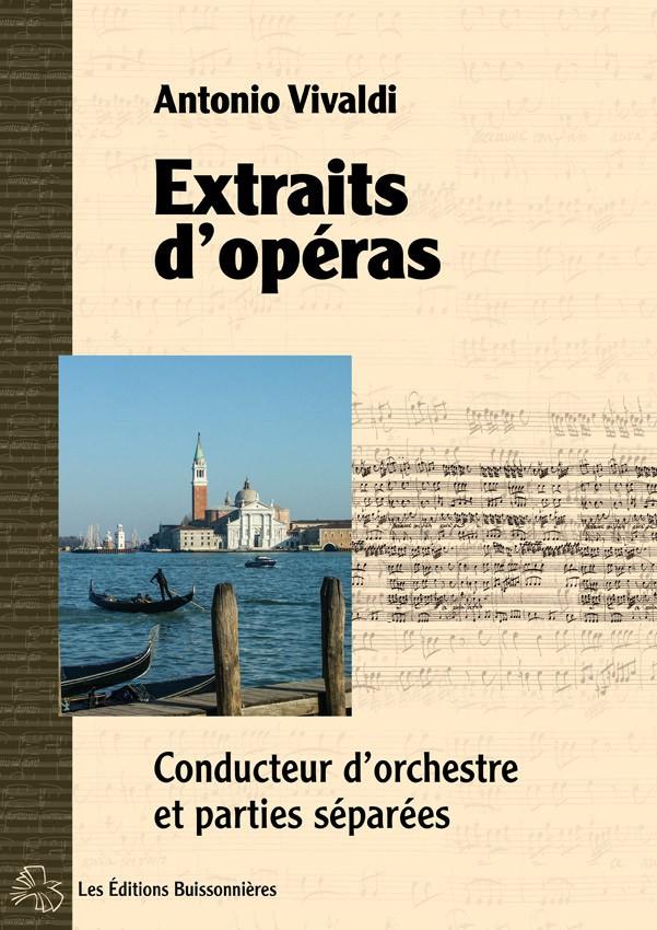 Vivaldi : extraits d'opéras, matériel d'orchestre