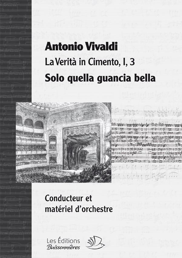 Vivaldi : Solo quella gancia bella (La Verità in cimento) Matériel d'orchestre