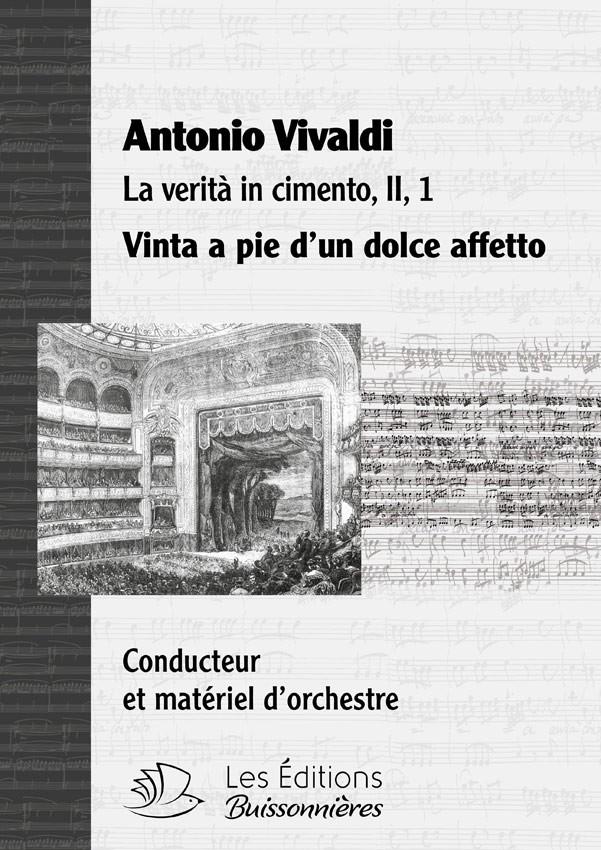Vivaldi : Vinta a piè (La Verita in cimento), matériel d'orchestre