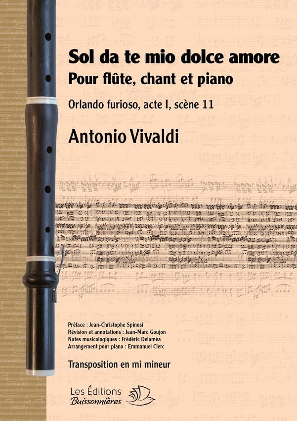 Vivaldi : Sol da te, en mi mineur (Orlando furioso), flûte, chant et piano