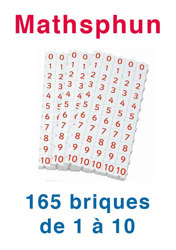 Mathsphun, 165 briques de 1 à 10