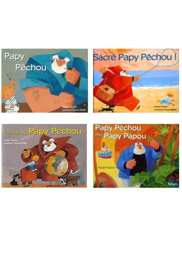 Papy Pêchou, une série de 4 albums
