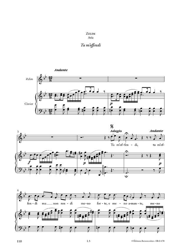 Tu m'offendi, Vivaldi (La verita in cimento RV 739), chant et clavier (piano)