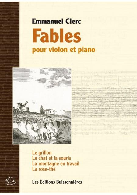 Emmanuel Clerc : Fables, pour violon et piano