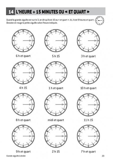 Je sais lire l'heure