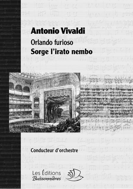 Vivaldi, Sorge l'irato nembo (Orlando furioso), conducteur & matériel d'orchestre