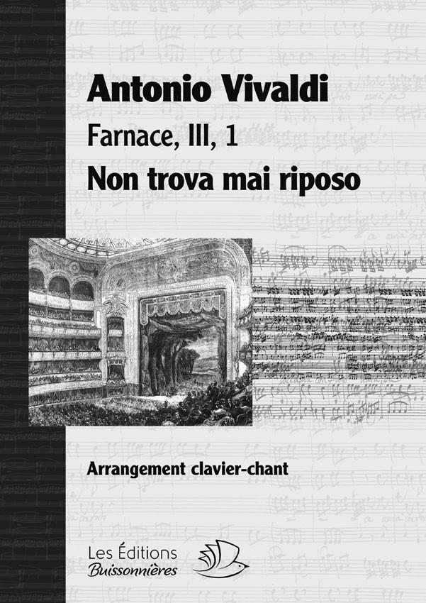 Non trova mai riposo, Vivaldi (Farnace, III, 1), chant et clavier (piano)