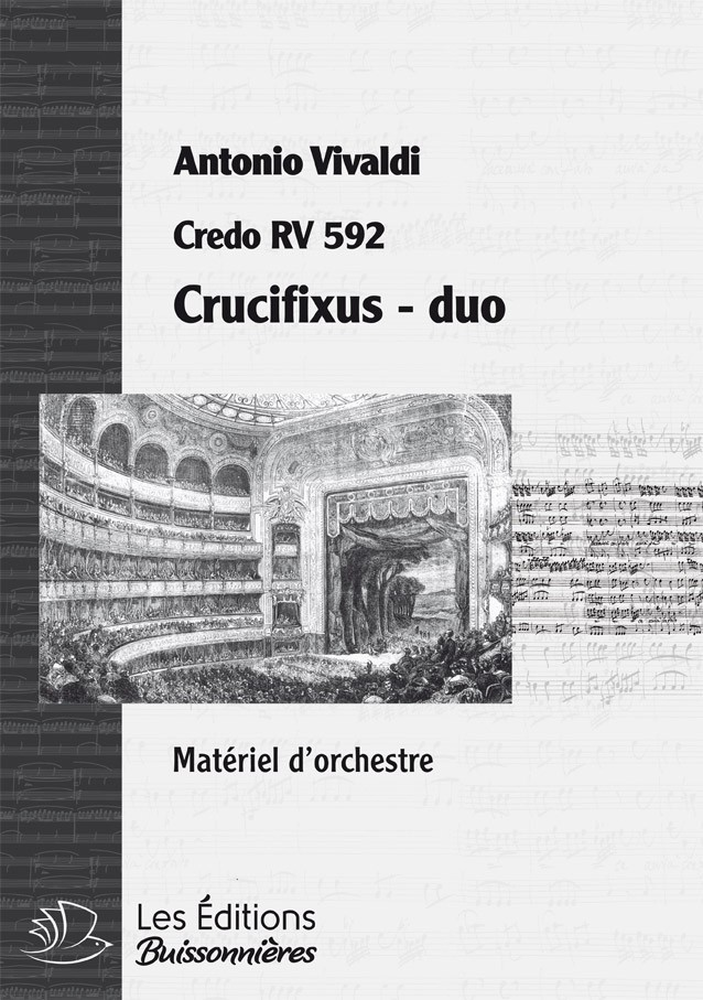Vivaldi : DUO Crucifixus (Credo RV 592) réduction piano