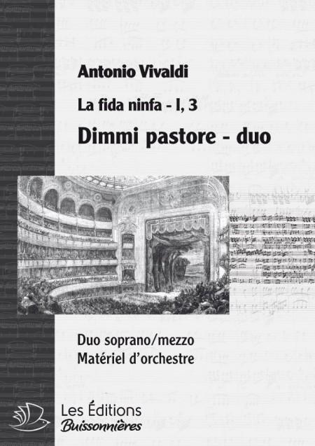 Vivaldi : DUO Dimmi pastore (Vivaldi, La fida ninfa) Matériel d'orchestre