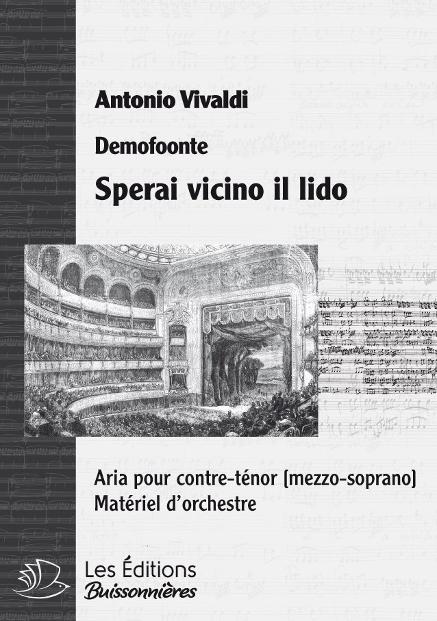 Vivaldi : Sperai vicino il lido (Demofoonte) pour chant et orchestre