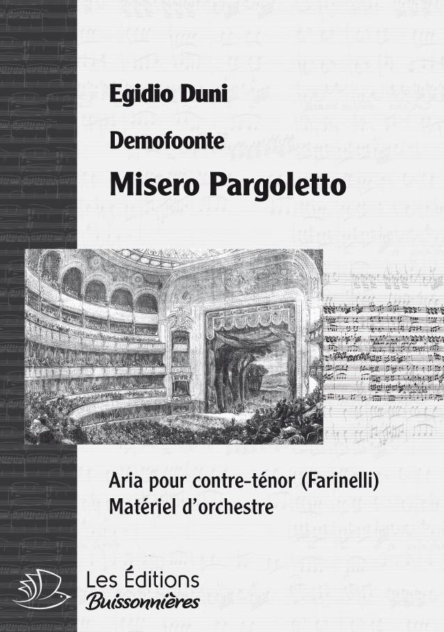 Romualdo Duni : Misero pargoletto, pour chant et orchestre