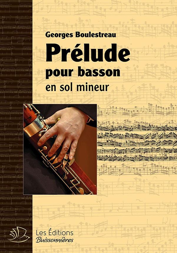 Prélude en sol mineur, pour basson solo (Georges Boulestreau)