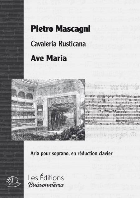 MASCAGNI : AVE MARIA (Cavaliera Rusticana), chant & clavier