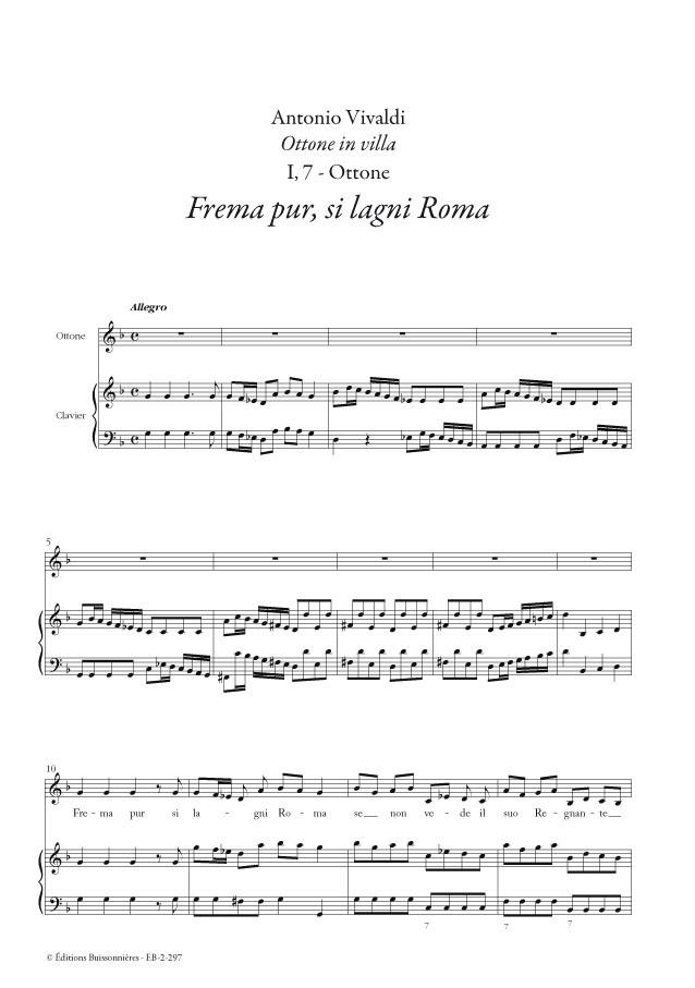 Vivaldi : Frema pur, si lagni Roma, chant et piano