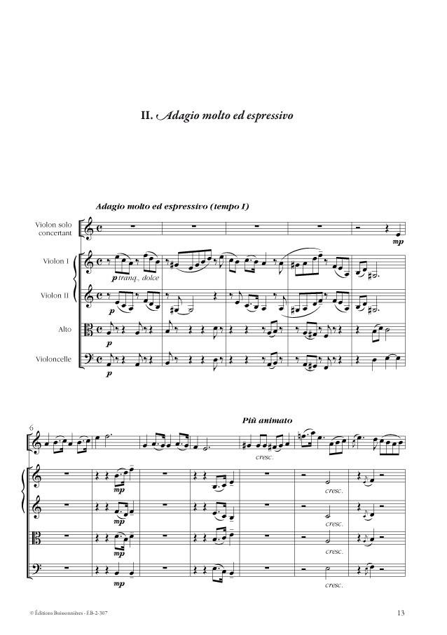 Concertino, Alain Querleux, pour violon et orchestre