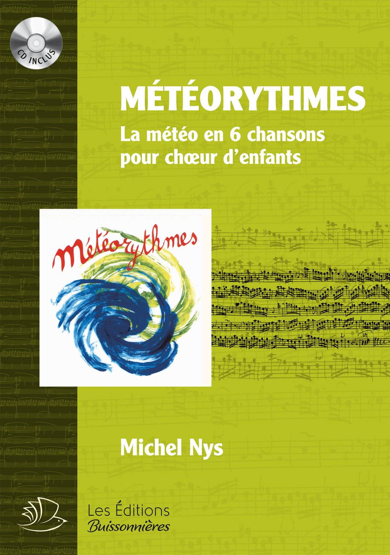 Partitions Météorythmes, Michel Nys, partition & CD