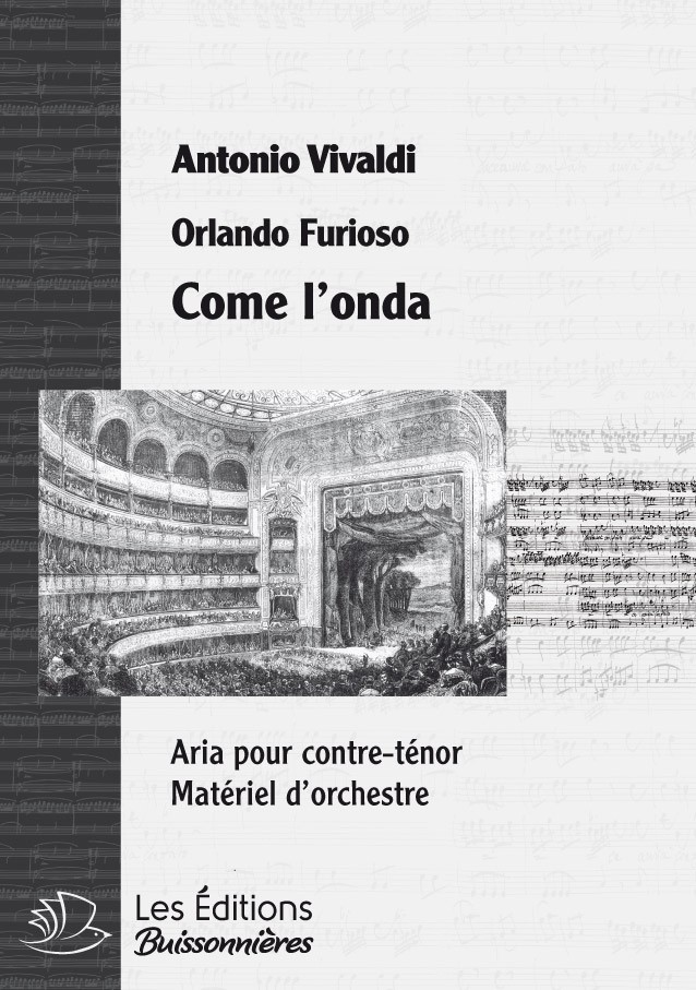 Vivaldi : comme l'onda (La Vertià in cimento), conducteur & matériel d'orchestre