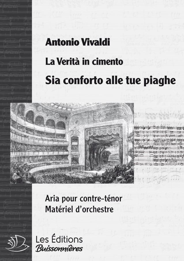 Vivaldi : Sia conforto elle tue piaghe (La Vertià in cimento), conducteur & matériel d'orchestre