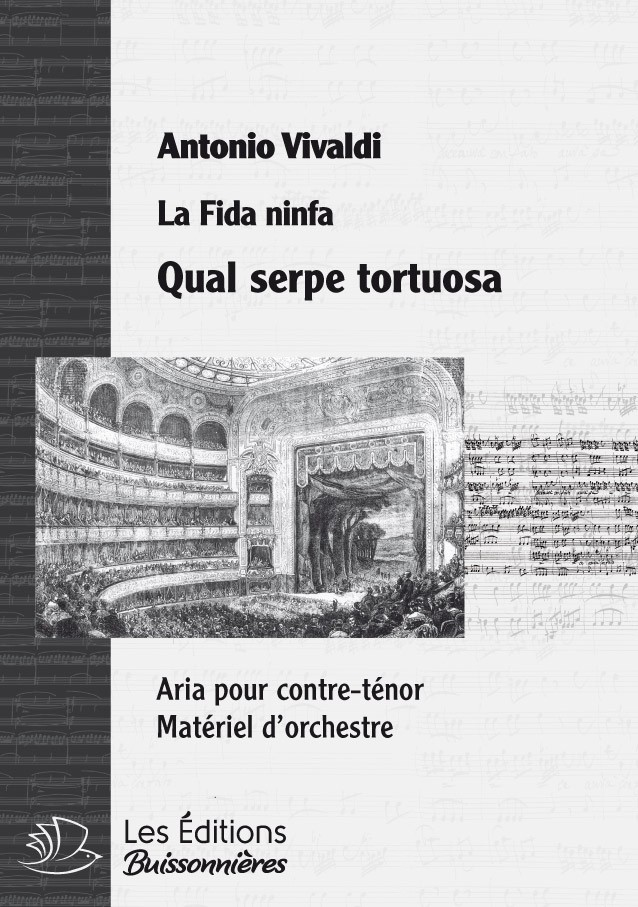 Vivaldi : Qual serpe tortuosa (La Vertià in cimento), conducteur & matériel d'orchestre
