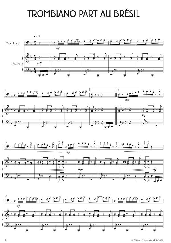 Tu viens jouer? trombone et piano