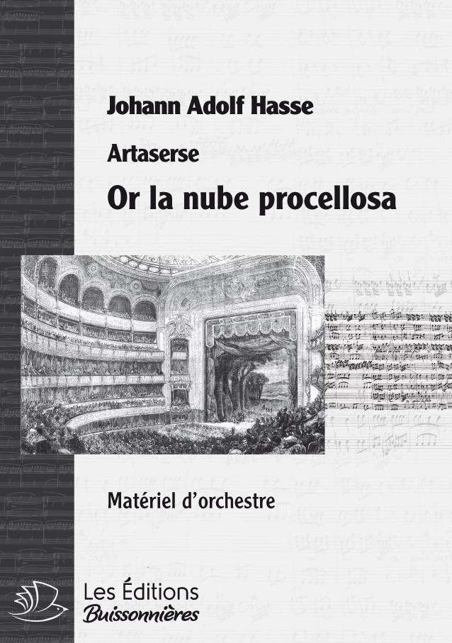 Hasse : Or la nuée procellosa, chant et orchestre