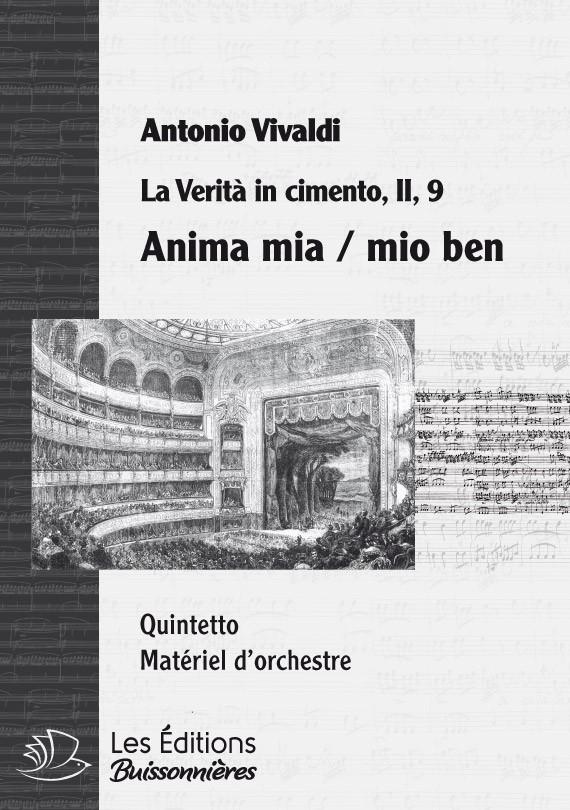 Vivaldi : Anima mia, mio ben - Quintetto (La Verità in cimento), chant et orchestre