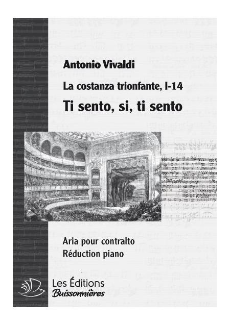 Vivaldi : Ti sento, si, ti sento (La Costanza trionfante), chant et clavier
