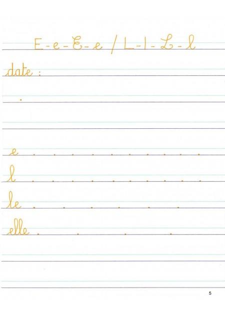Mon cahier d'écriture Grande section de maternelle