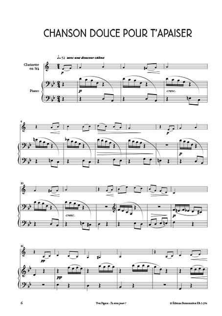 Tu viens jouer ? Clarinette et piano