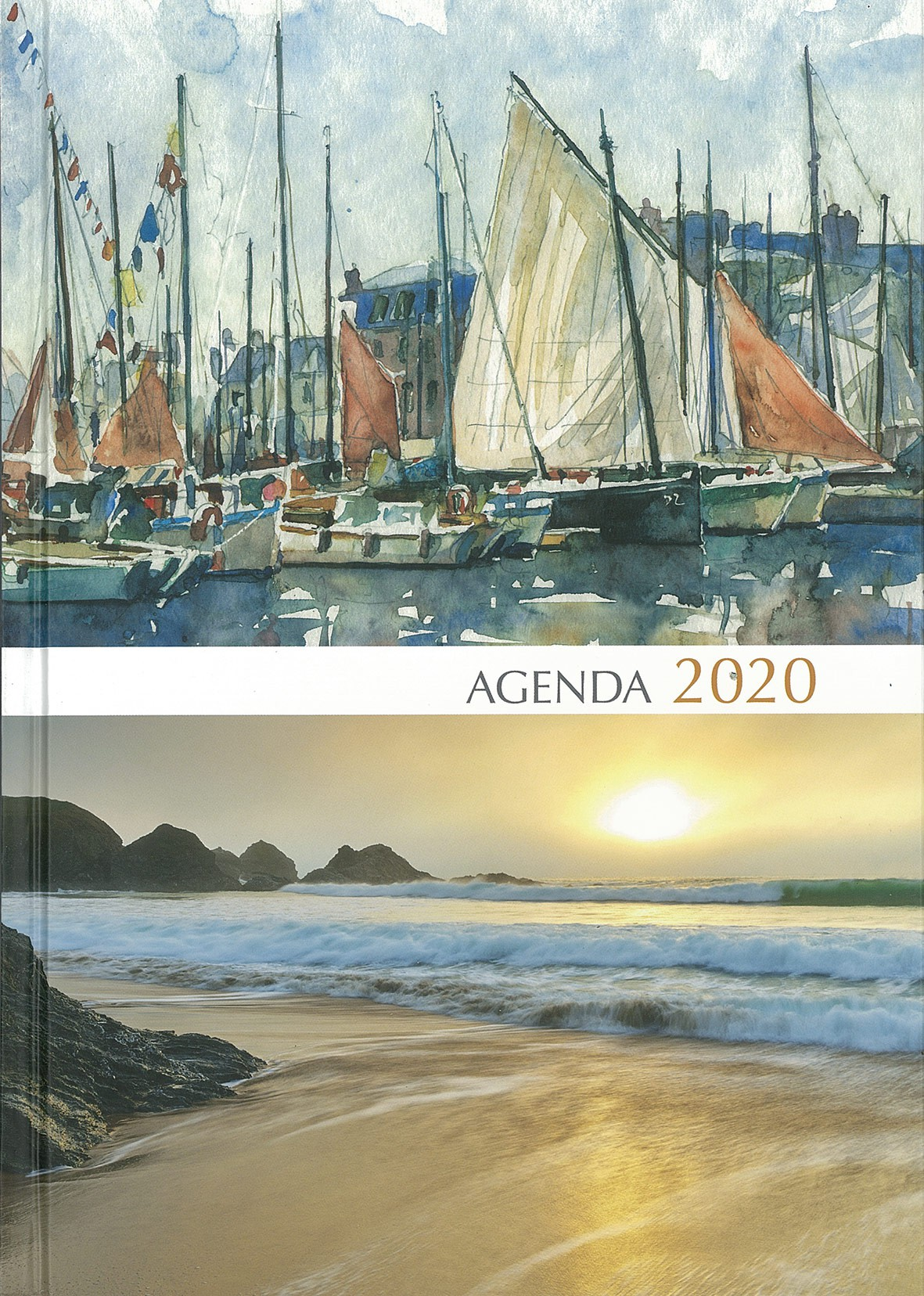 Grand agenda 2021, couverture aquarelle