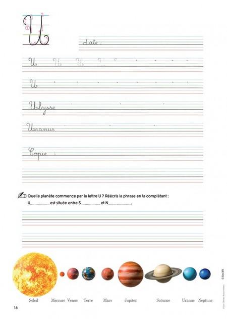 Mon cahier d'écriture Les majuscules au cycle 2