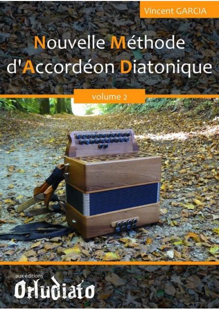 Nouvelle méthode d'accordéon Diatonique - vol.2 - ORLUDIATO