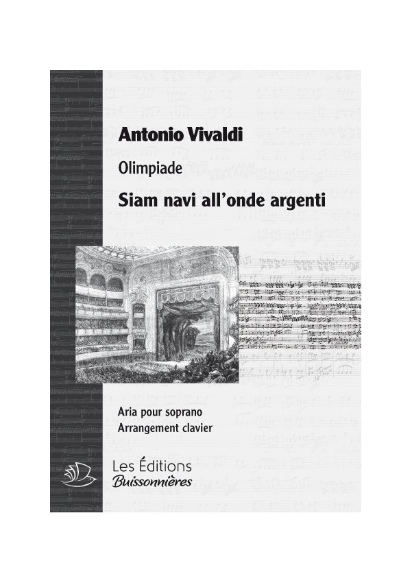 Vivaldi : Siam navi all'onde argenti (Olimpiade), chant et clavier