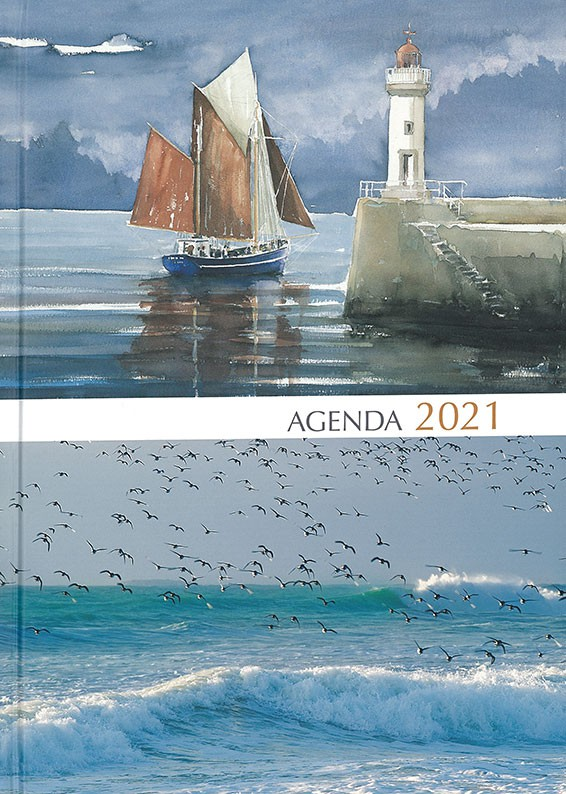 Grand agenda 2020, couverture aquarelle