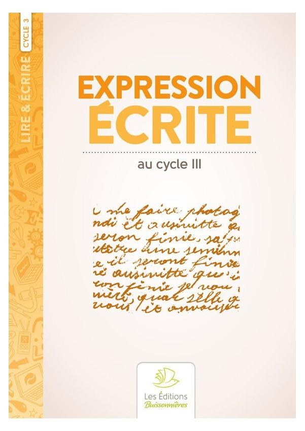 Expression écrite au cycle 3