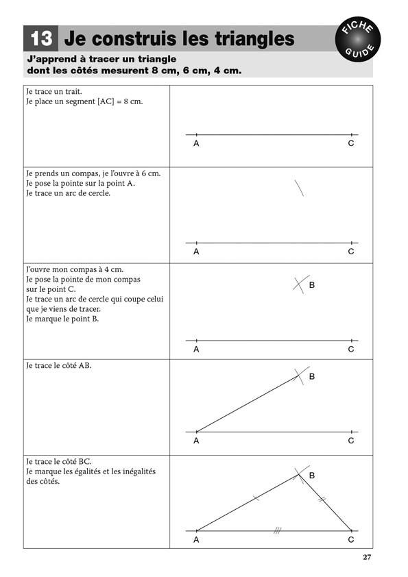 Les tracés en géométrie au cycle 3
