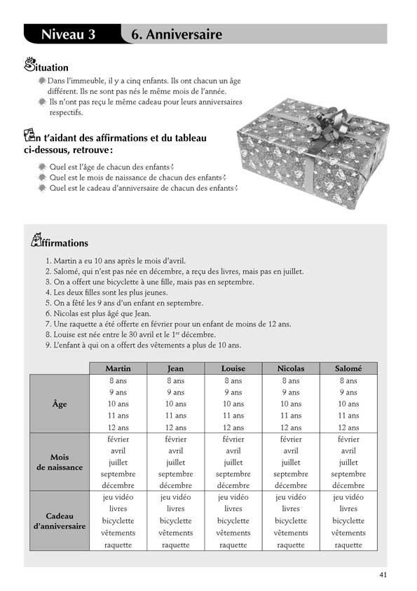 Jeux de logique au cycle 3 (vol. I)