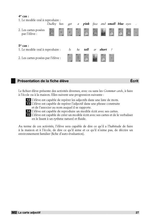 Grammar Cards® : Fichier + 1 jeu